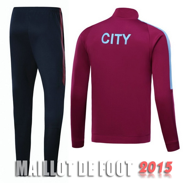 Survetement Manchester City Rouge Marine Noir 17/18