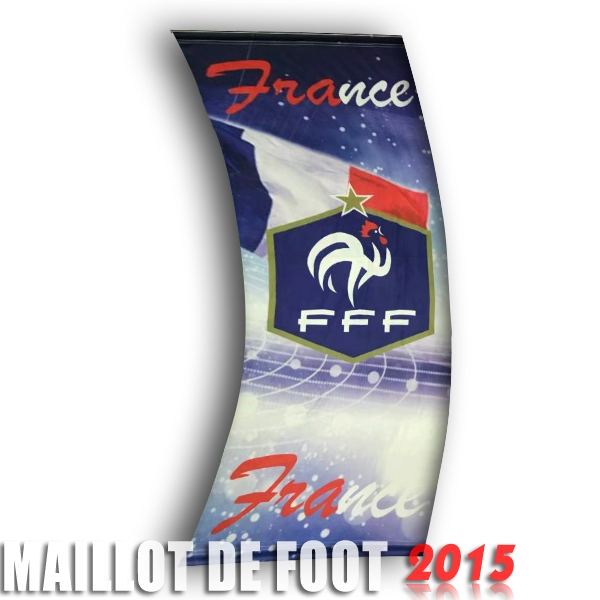 Football Drapeau de France Bleu