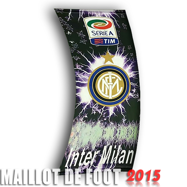 Football Drapeau de Inter Milan Noir