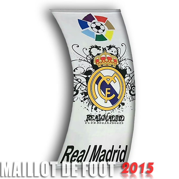 Football Drapeau de Real Madrid Blanc
