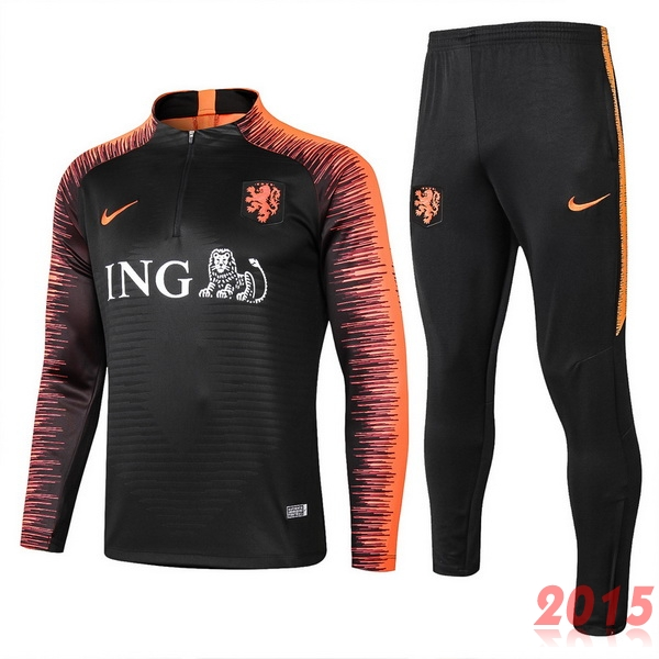 Survêtements Hollande Orange Noir 2018
