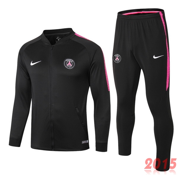 Ensemble Survetement PSG Noir Blanc Rose 18/19