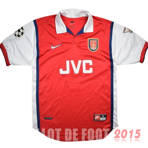 Maillot De Foot Arsenal 1998 1999 Retro Rouge Domicile