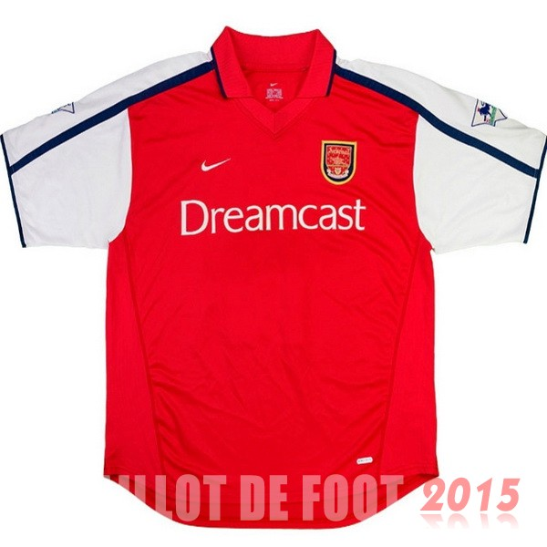 Maillot De Foot Arsenal 2000 Retro Rouge Domicile