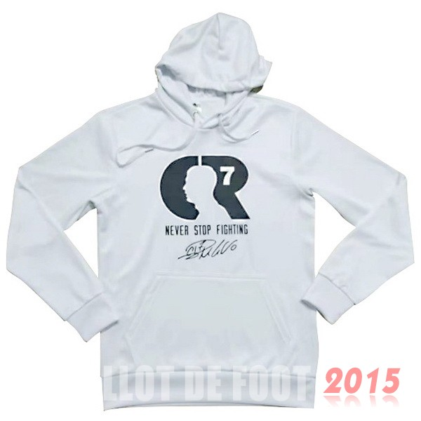 CR7 Sweat Shirt Capuche Juventus Blanc 18/19