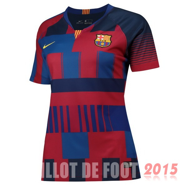 Maillot De Foot Barcelone Femme 20th Bleu Rouge