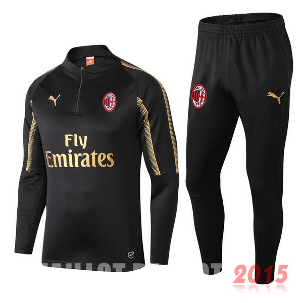 Survetement Enfant Ac Milan Noir Or 18/19