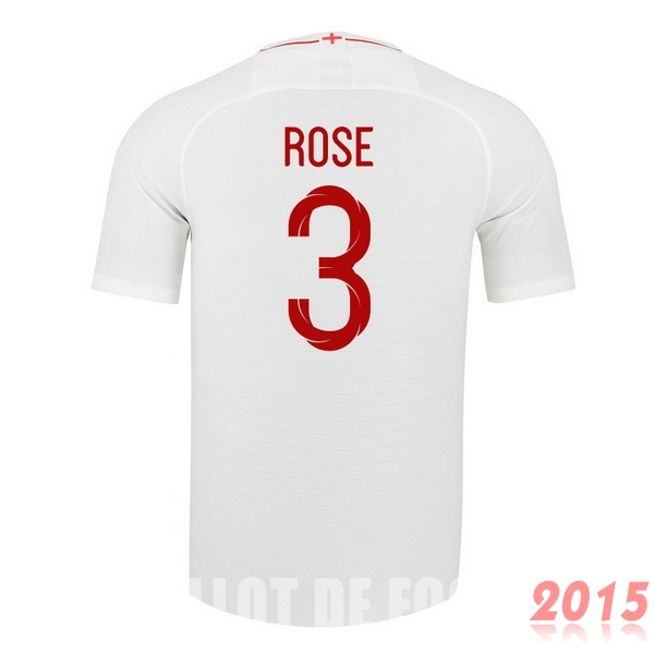 Maillot De Foot Rose Angleterre Mondial 2018 Domicile