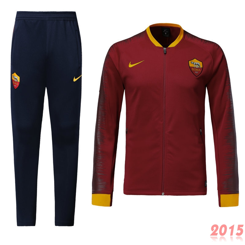 Survêtements AS Roma Rouge Marine 18/19