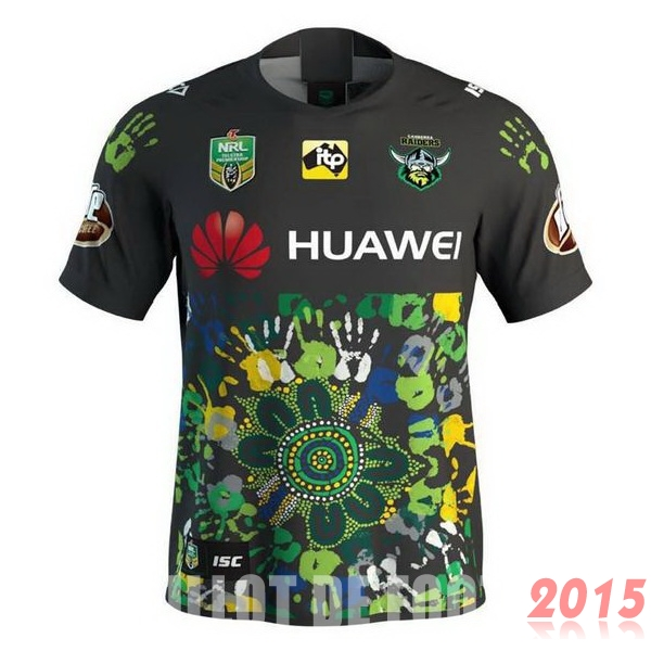 Rugby Maillot De Foot Canberra Raiders 2018 Edition commemorative Noir Vert