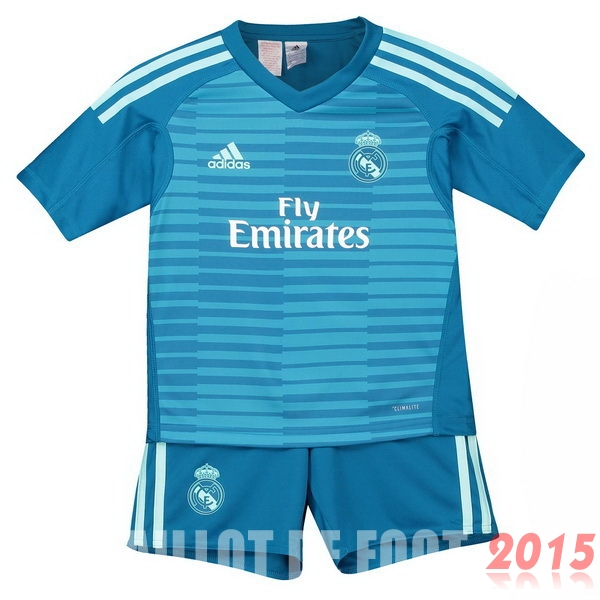 Maillot De Foot Real Madrid Gardien Enfant 18/19 Exterieur Un ensemble