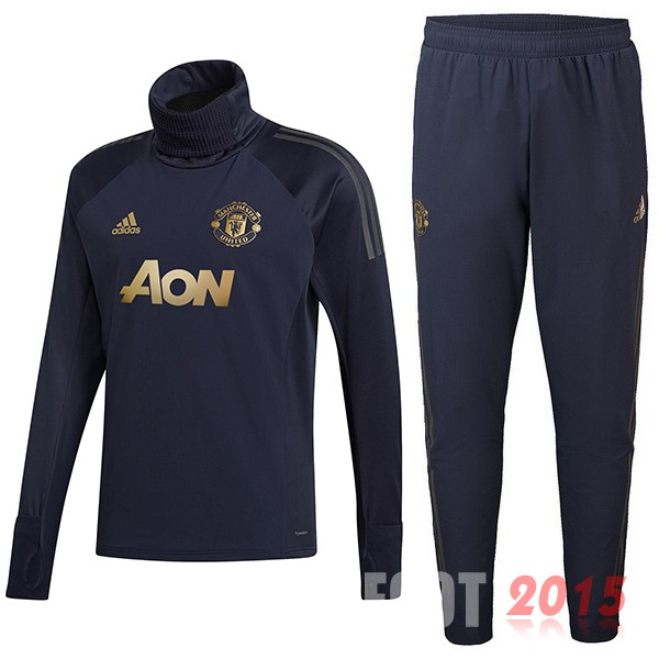 Survetement Enfant Manchester United Bleu Or 18/19