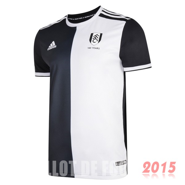 Maillot De Foot Fulham 140th Noir Blanc