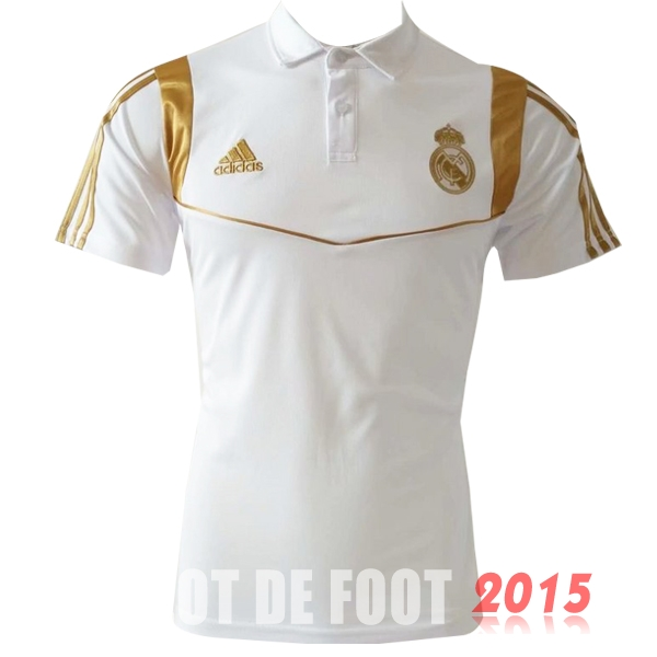 Polo Real Madrid Blanc Or 19/20