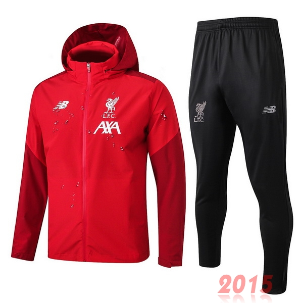 Ensemble Coupe Vent Liverpool Rouge Noir 19/20