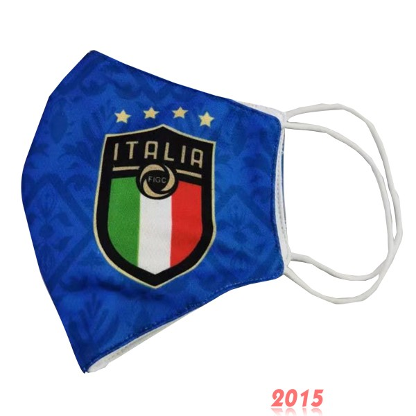 Masque Football Italie serviette Bleu