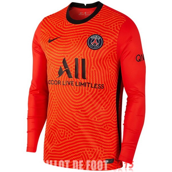 Maillot De Foot Paris Saint Germain Manches Longues Gardien 20/21 Orange
