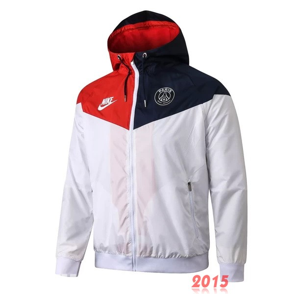 Coupe Vent PSG Blanc Rouge 20/21