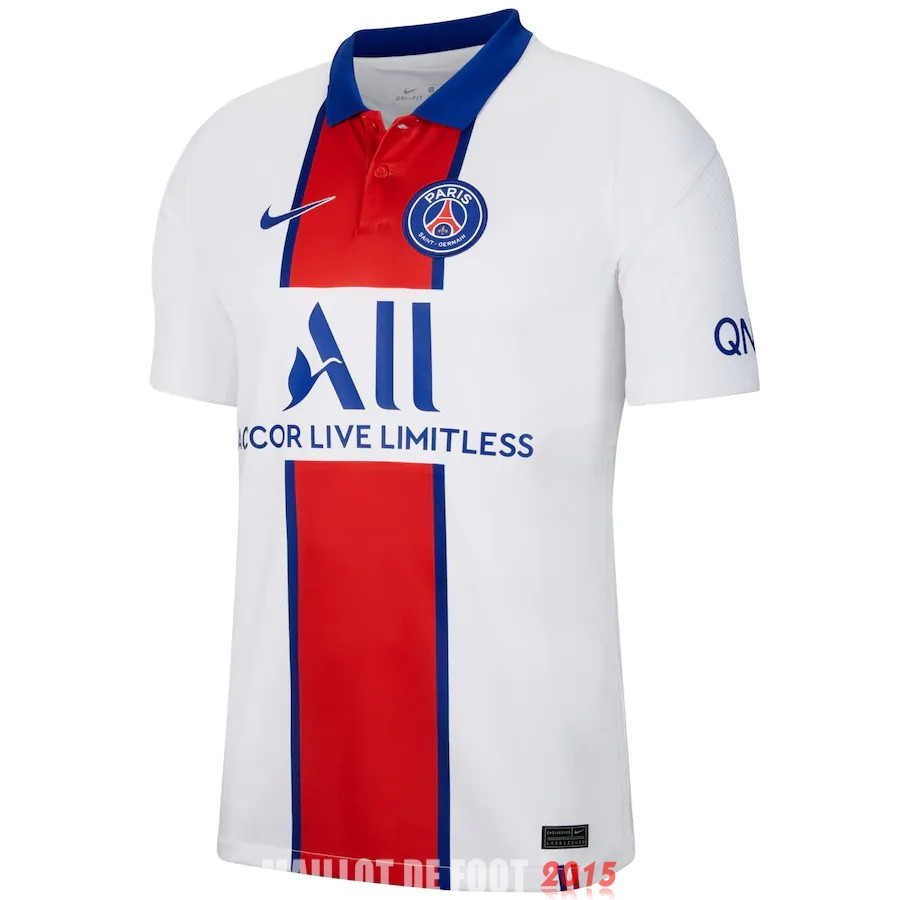 Thailande Maillot De Foot Paris Saint Germain 20/21 Exterieur
