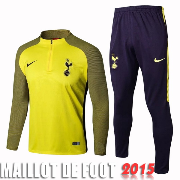 Ensemble Survetement Tottenham Hotspur Jaune Bleu 17/18